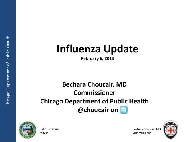 Chicago Department of Public Health                                                Influenza Update                       ...