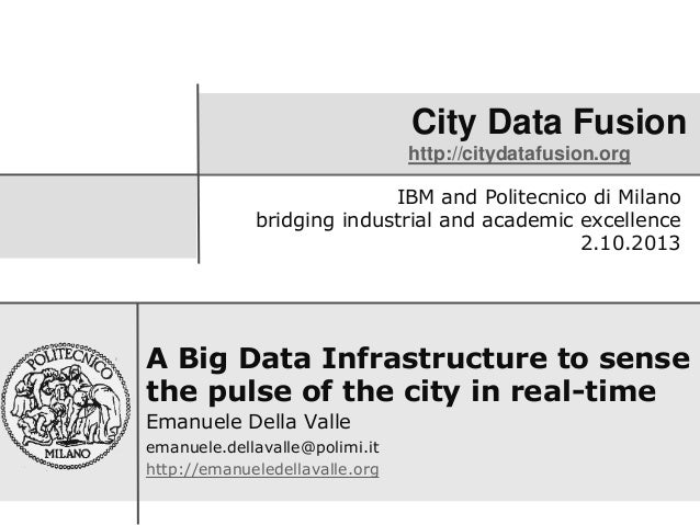 City Data Fusion http://citydatafusion.org A Big Data Infrastructure to sense the pulse of the city in real-time Emanuele ...