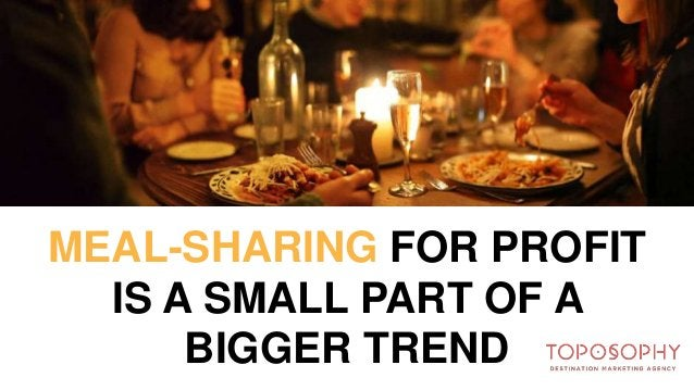 MEAL-SHARING START-UPS FOOD SHARED FOOD EatWith Feastly GrubWithUs La Ruche Qui Dit Oui Meal Sharing SpoonRocket Sprig Viz...