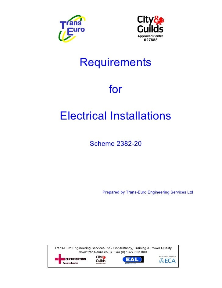027888                Requirements                                  for   Electrical Installations                      Sc...