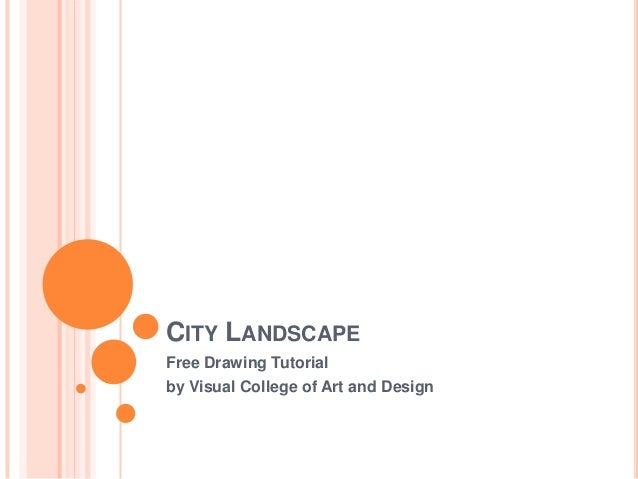 CITY LANDSCAPEFree Drawing Tutorialby Visual College of Art and Design