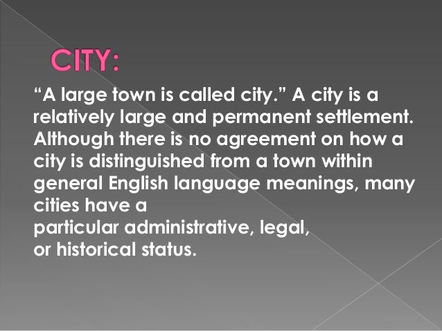 essay on village and city life
