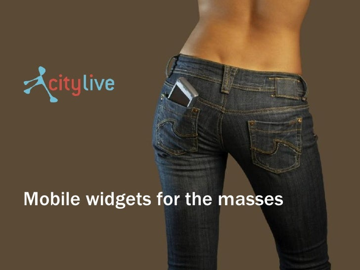 Mobile widgets for the masses