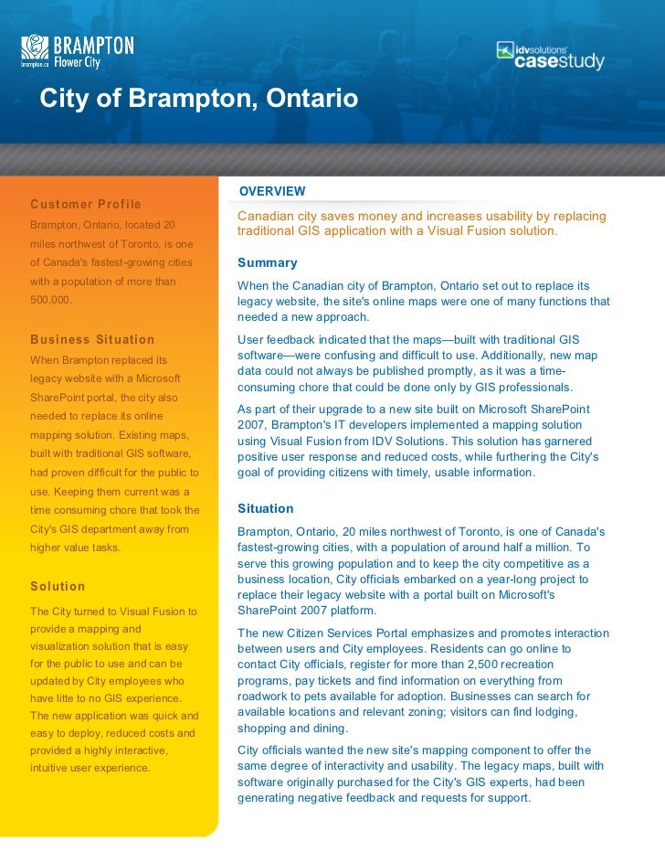 City of Brampton Case Study