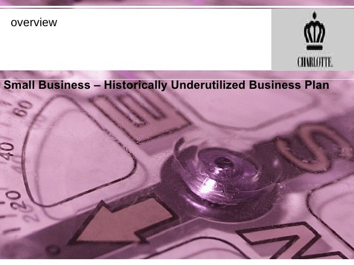 overview Small Business – Historically Underutilized Business Plan