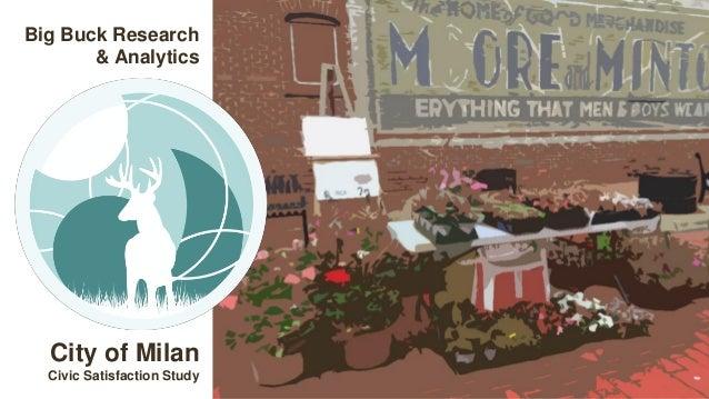 Big Buck Research & Analytics City of Milan Civic Satisfaction Study