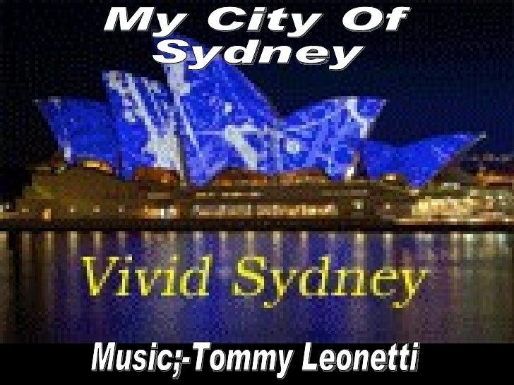 My City Of Sydney Music;-Tommy Leonetti