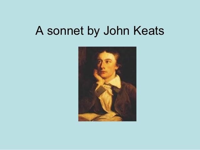 A sonnet by John Keats