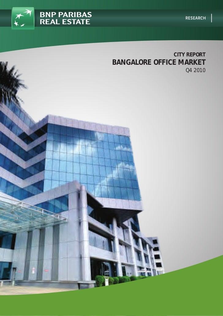 City Report   Bangalore Office Market   Q4 2010