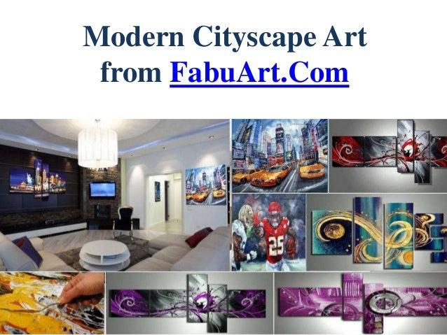 Modern Cityscape Artfrom FabuArt.Com