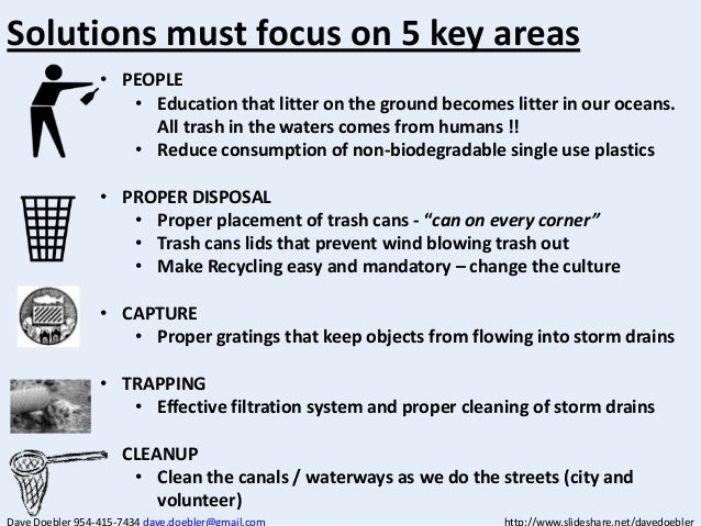 City Solutions For Mitigating Trash In The Waterways