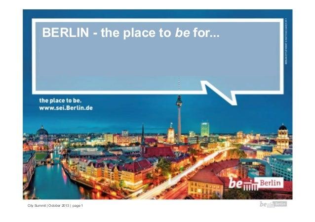 BERLIN - the place to be for...  Motive (von link nach rechts): 1. Gründerhauptstadt, 2. Wissenschaft, 3. Talente, 4. Idee...