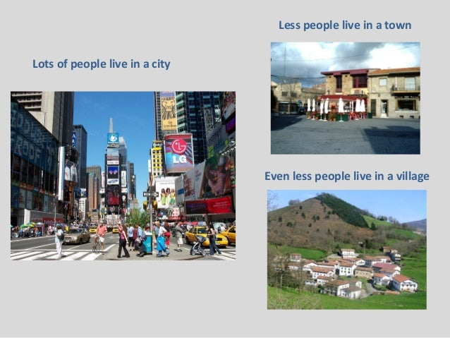Difference between village life and city life
