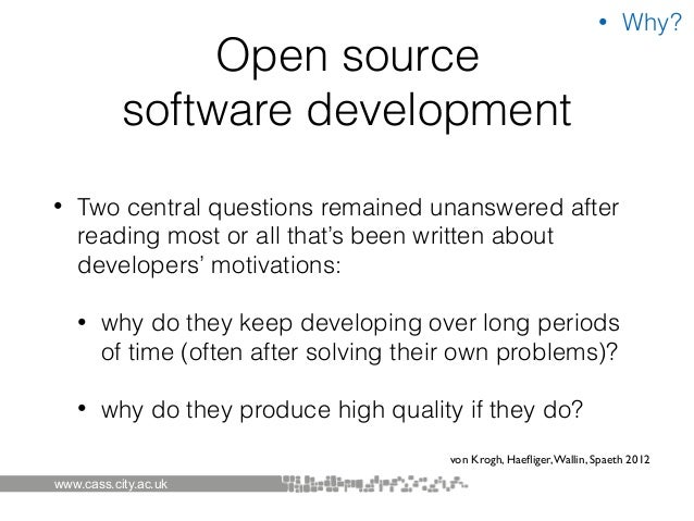 how to develop open source software