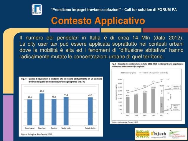 """""""Prendiamo impegni troviamo soluzioni"""" - Call for solution di FORUM PA Il numero dei pendolari in Italia è di circa 14 Mln..."""