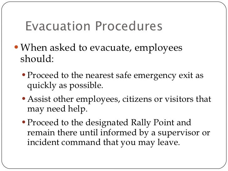 incident response procedure template - citywide emergency action plan response trng dept template