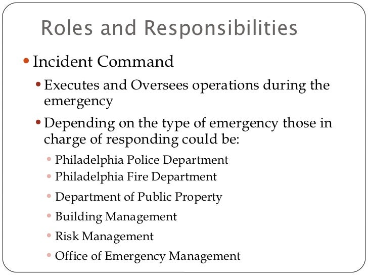 Citywide Emergency Action Plan  Response Trng Dept Template