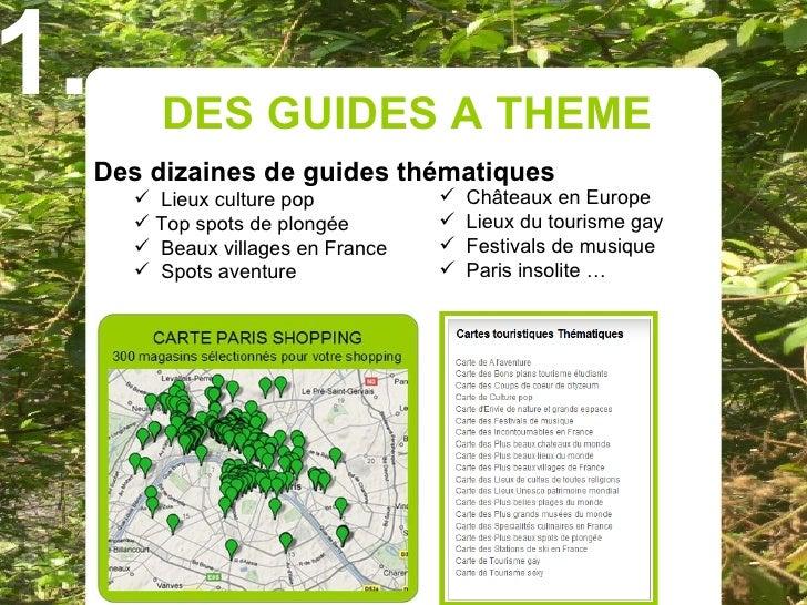 1.        DES GUIDES A THEME      Des dizaines de guides thématiques         Lieux culture pop             Châteaux en E...