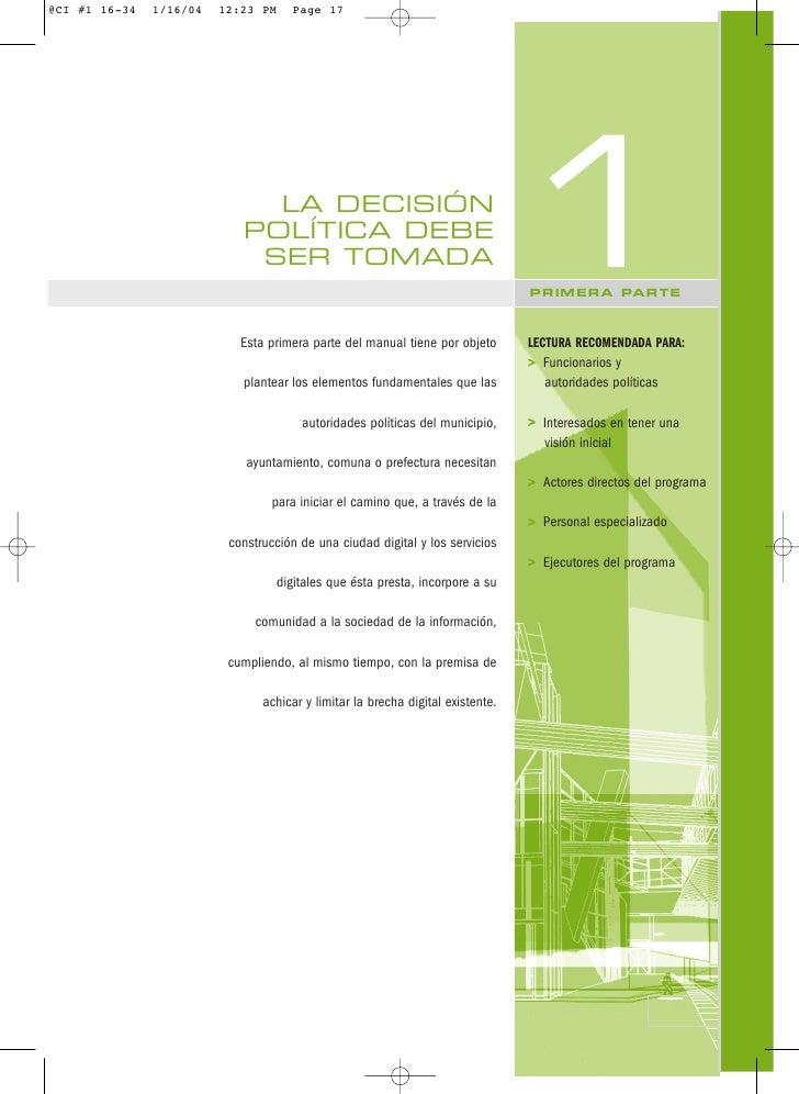 LA DECISIÓN  POLÍTICA DEBE   SER TOMADA  Esta primera parte del manual tiene por objeto                                   ...