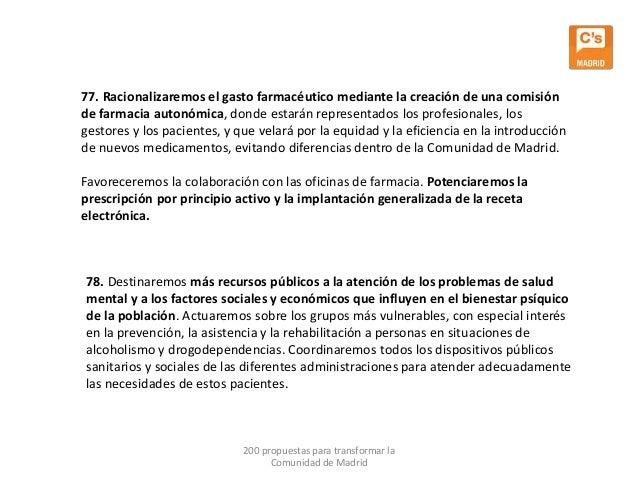 Ciudadanos 200 propuestas para transformar la comunidad for Oficinas de la comunidad de madrid