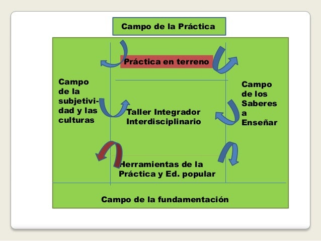 Práctica en terreno Taller Integrador Interdisciplinario Herramientas de la Práctica y Ed. popular Campo de la subjetivi- ...