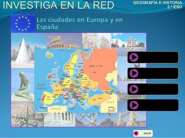 INVESTIGA EN LA RED  GEOGRAFÍA E HISTORIA 2.º ESO  INTRODUCCIÓN  TAREAS  CONCLUSIONES ÁLBUM DE RECURSOS  SALIR