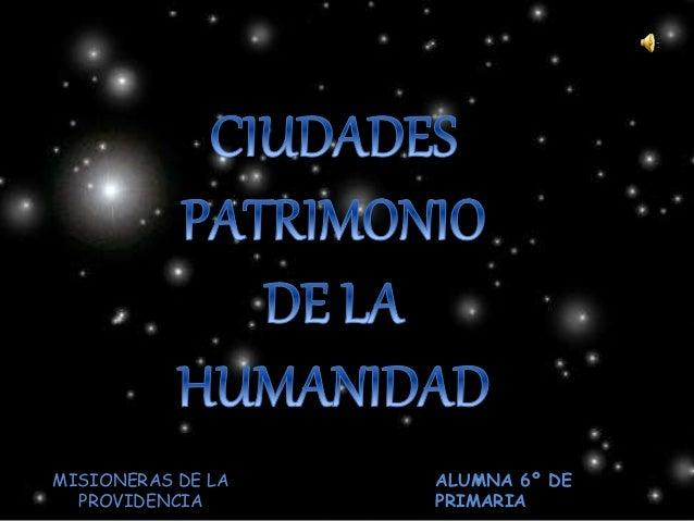 MISIONERAS DE LA PROVIDENCIA ALUMNA 6º DE PRIMARIA