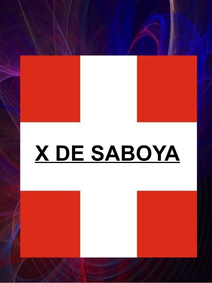 X DE SABOYA