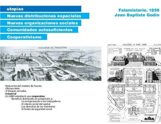 utopías Nuevas distribuciones espaciales Comunidades autosuficientes Cooperativismo Nuevas organizaciones sociales Falamis...