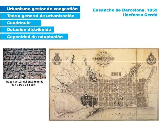 Urbanismo gestor de congestión Teoría general de urbanización Dotación distribuida Capacidad de adaptación Cuadrícula Ensa...