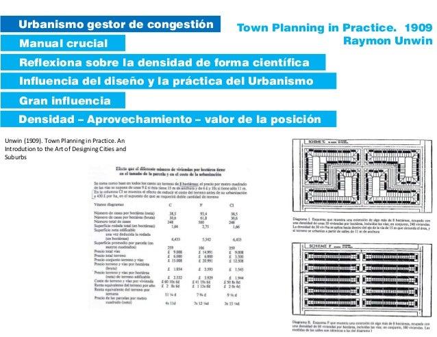 Unwin (1909). Town Planning in Practice. An Introdution to the Art of Designing Cities and Suburbs Urbanismo gestor de con...