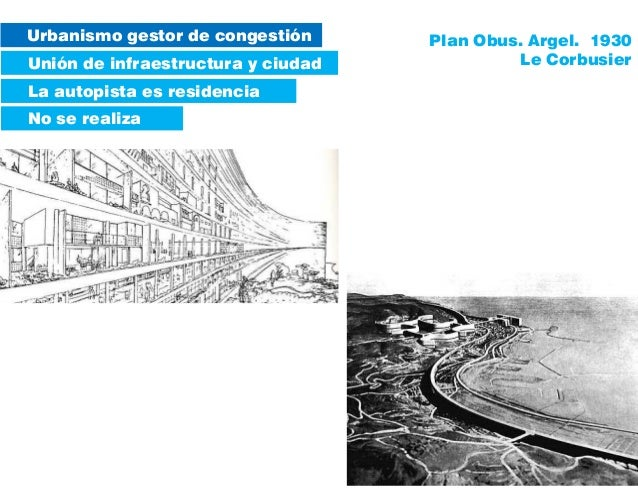 Urbanismo gestor de congestión Unión de infraestructura y ciudad No se realiza La autopista es residencia Plan Obus. Argel...
