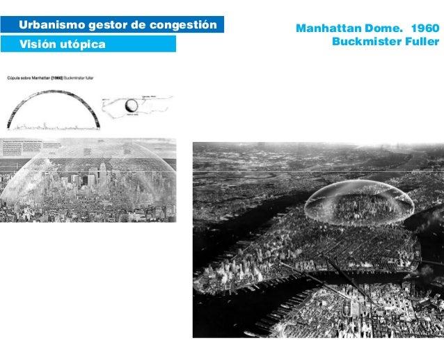 Urbanismo gestor de congestión Visión utópica Manhattan Dome. 1960 Buckmister Fuller