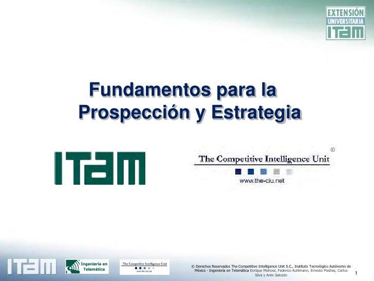 Fundamentos para la Prospección y Estrategia                                                                              ...