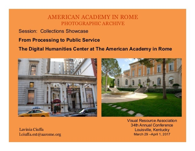 American Academy In Rome Photographic Archive