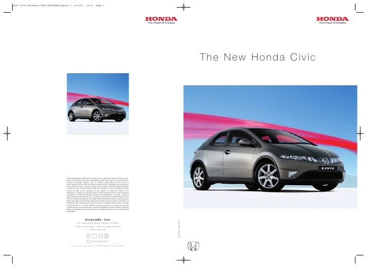 8421 Civic Brochure FULL BROCHURE:Layout 1      4/12/07            14:10          Page 1                                  ...