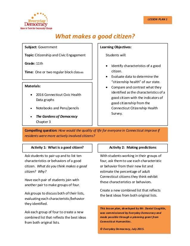 Whatmakesagoodcitizen?                                  Subject:Government Topic:...