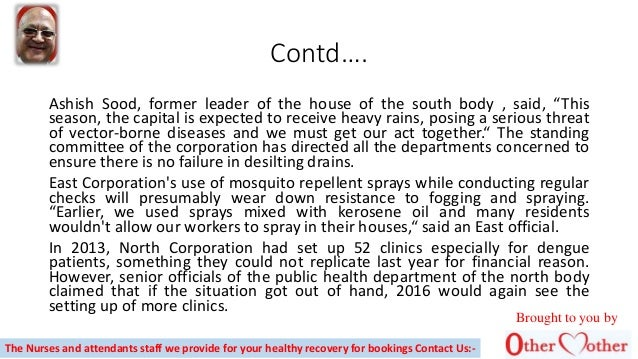 """Contd…. Ashish Sood, former leader of the house of the south body , said, """"This season, the capital is expected to receive..."""