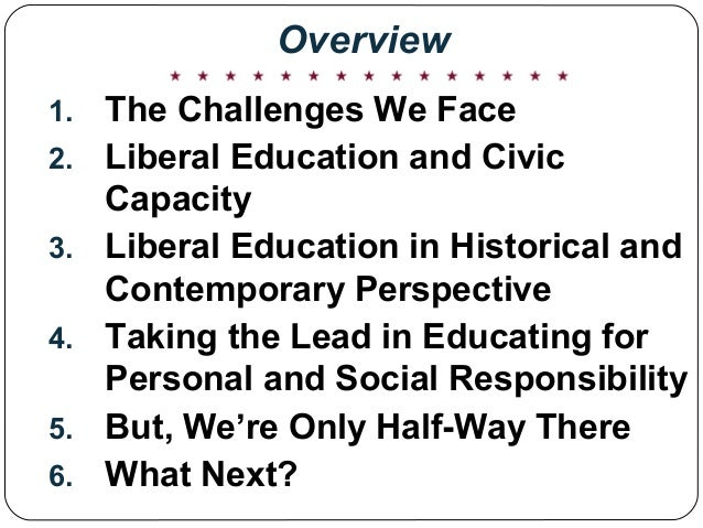 The Civic Case for Liberal Education