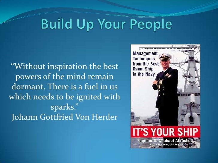 """Build Up Your People<br />""""Without inspiration the best powers of the mind remain dormant. There is a fuel in us which nee..."""