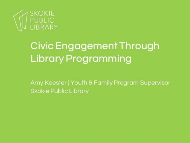 Civic Engagement through Library Programming