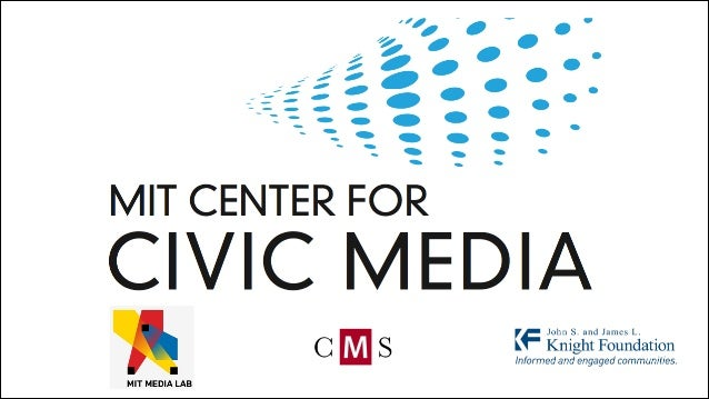 MIT Media Lab  (PARTICIPATORY)! MEDIA  CIVIC! MEDIA  CIVIC! INVOLVEMENT