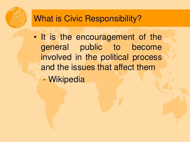 civic requirement against civic responsibility