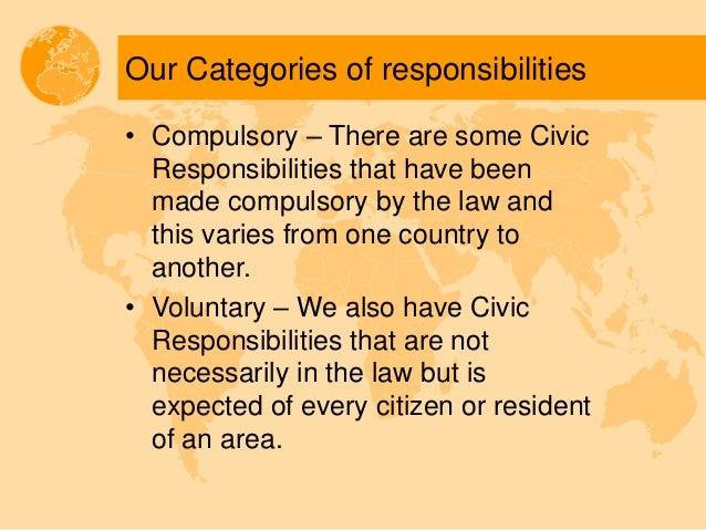 civic responsibility v . social responsibility
