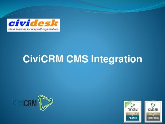 CiviCRM CMS Integration