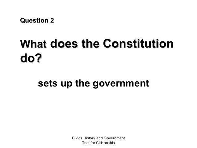 Civics test United States citizenship