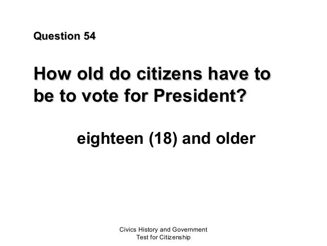 Civics Test United States Citizenship - How old is united states