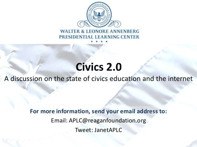 For more information, send your email address to: Email: APLC@reaganfoundation.org Tweet: JanetAPLC