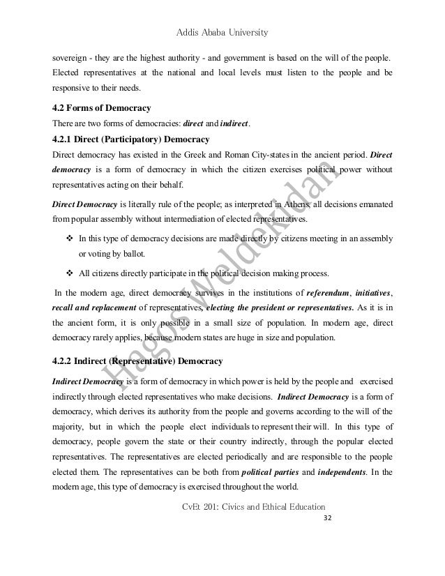 Civics and ethical education cv et 201