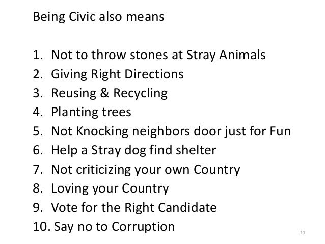 civic activities definition